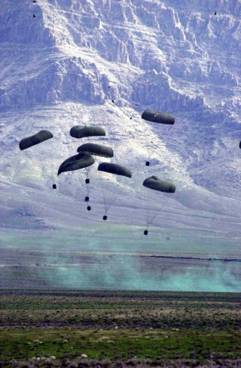 Supply drop in Afghanistan