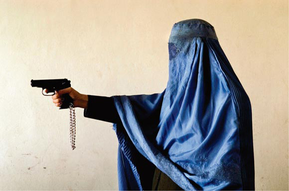 Malalai Kakar, an Afghan policewoman not averse to dispensing the occasional bit of rough justice. Photo: Lana Slezic